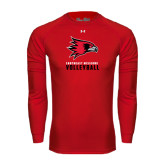 State Under Armour Red Long Sleeve Tech Tee-Volleyball