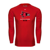 State Under Armour Red Long Sleeve Tech Tee-Dad