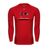 State Under Armour Red Long Sleeve Tech Tee-Grandparent