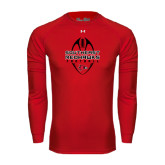 State Under Armour Red Long Sleeve Tech Tee-Tall Football Design