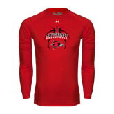 State Under Armour Red Long Sleeve Tech Tee-Graphics in Basketball