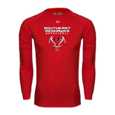 State Under Armour Red Long Sleeve Tech Tee-Graphics on Basketball