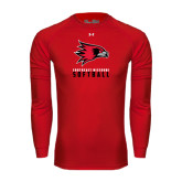 State Under Armour Red Long Sleeve Tech Tee-Softball