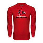 State Under Armour Red Long Sleeve Tech Tee-Marching Band