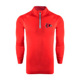 Under Armour Red Tech 1/4 Zip Performance Shirt-Redhawk Head