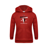 Youth Red Fleece Hoodie-2017 OVC Mens Outdoor Track and Field Champions back to back