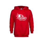Bookstore Youth Red Fleece Hoodie-Volleyball