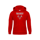 Youth Red Fleece Hoodie-Graphics on Basketball