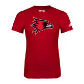Adidas Red Logo T Shirt-Redhawk Head
