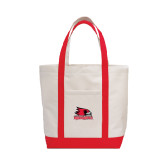 Contender White/Red Canvas Tote-Official Logo