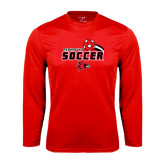 Syntrel Performance Red Longsleeve Shirt-Soccer Swoosh