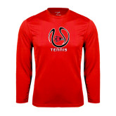 Syntrel Performance Red Longsleeve Shirt-Tennis Ball