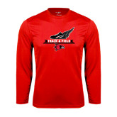 Syntrel Performance Red Longsleeve Shirt-Track and Field Side Design