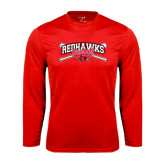 Syntrel Performance Red Longsleeve Shirt-Baseball Bats