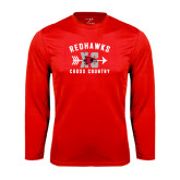 Syntrel Performance Red Longsleeve Shirt-Redhawks XC