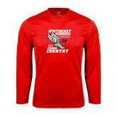 Syntrel Performance Red Longsleeve Shirt-Cross Country Winged Shoe
