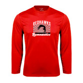 Syntrel Performance Red Longsleeve Shirt-Redhawk Gymnastics Backflip
