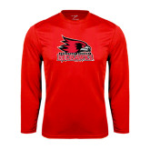 State Syntrel Performance Red Longsleeve Shirt-Official Logo