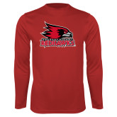 Bookstore Performance Red Longsleeve Shirt-Primary Logo