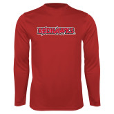 Bookstore Performance Red Longsleeve Shirt-Redhawks