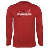 Bookstore Performance Red Longsleeve Shirt-Football