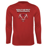 Bookstore Performance Red Longsleeve Shirt-Basketball