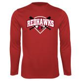 Bookstore Performance Red Longsleeve Shirt-Softball