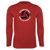 Bookstore Performance Red Longsleeve Shirt-Volleyball