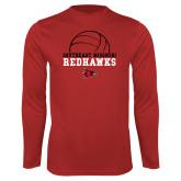 Bookstore Performance Red Longsleeve Shirt-Volleyball