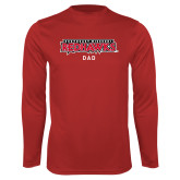 Bookstore Performance Red Longsleeve Shirt-Dad