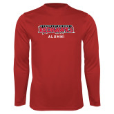 Bookstore Performance Red Longsleeve Shirt-Alumni