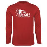 Bookstore Performance Red Longsleeve Shirt-SEMO Logo