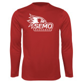 Bookstore Performance Red Longsleeve Shirt-SEMO Logo with Redhawks