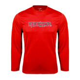 State Syntrel Performance Red Longsleeve Shirt-Redhawks