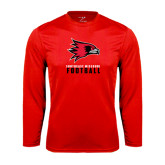 State Syntrel Performance Red Longsleeve Shirt-Football