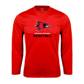 State Syntrel Performance Red Longsleeve Shirt-Basketball