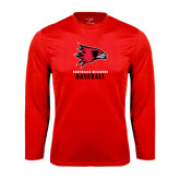 State Syntrel Performance Red Longsleeve Shirt-Baseball