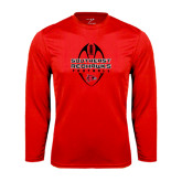 State Syntrel Performance Red Longsleeve Shirt-Tall Football Design
