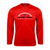 State Syntrel Performance Red Longsleeve Shirt-Arched Football Design