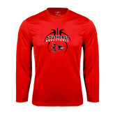 State Syntrel Performance Red Longsleeve Shirt-Graphics in Basketball