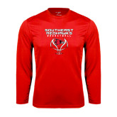 State Syntrel Performance Red Longsleeve Shirt-Graphics on Basketball
