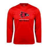 State Syntrel Performance Red Longsleeve Shirt-Softball