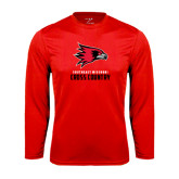 State Syntrel Performance Red Longsleeve Shirt-Cross Country