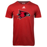 Bookstore Adidas Climalite Red Ultimate Performance Tee-Hawk Head