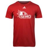 Bookstore Adidas Climalite Red Ultimate Performance Tee-SEMO Logo