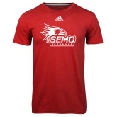 Bookstore Adidas Climalite Red Ultimate Performance Tee-SEMO Logo with Redhawks