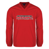 V Neck Red Raglan Windshirt-Southeast Missouri Redhawks