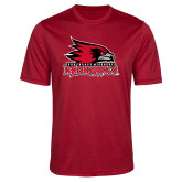 Bookstore Performance Red Heather Contender Tee-Primary Logo
