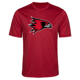 Bookstore Performance Red Heather Contender Tee-Hawk Head