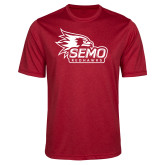 Bookstore Performance Red Heather Contender Tee-SEMO Logo with Redhawks